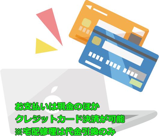 パソコン出張修理 トラブル解決 夜間 クレジットカード利用可能